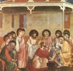 Le lavement des pieds par Giotto